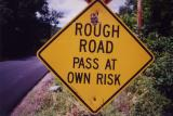 Rough Road Pass At Own Risk (Adamsville, MA)