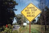 School Bus Stop 100 Ft Ahead (Sunderland, MA)
