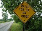 Watch for Ice on Bridge (Shelbyville, IN)