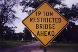 19 Ton Restricted Bridge Ahead (Wheeler ,AL)