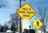 Yield To Rotary Traffic Ahead (Easthampton, MA)