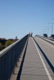 The long walk up the bridge
