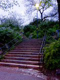 The stone stairs