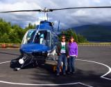 Ready to do the heli tour from Hoffstadt Bluffs