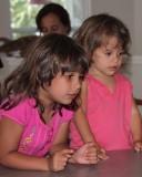 Maya and Elena waiting for Cake