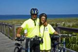Raffa and Pino on a bike ride