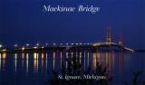 Mackinac Bridge from St. Ignace at Dusk