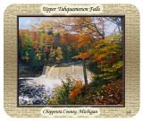Upper Tahquamenon Falls in Fall mousepad