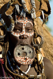 Woman of Mursi tribe with lip plate.