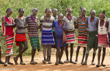 Some of the men. This tribe wore these short skirts.