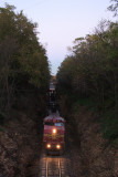 Santa Fe Locomotive at Burlington Rd cut.JPG