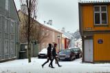 The corner Oscars gate - Øvre Bankegate and pedestrians