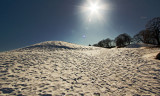Snow - heaven - sun in March - Old Town Fredrikstad