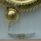 Detail of The new clock designed for Cambridge's Corpus Christi College.