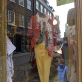 Display window men's clothing store Cambridge