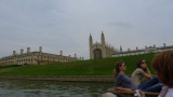 Calm afternoon on the river Cam by Kings College, Cambridge.