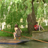 Punting and reading, Cambridge.