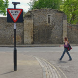 Give way - Bury St Edmunds.