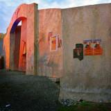 Wall encircling the bullfight arena.