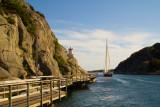 Strait = Sund as in Havstensund -  Hav(ocean)sten(rock)sund(strait)