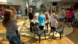 Face-painting and preparations at Tistasenteret