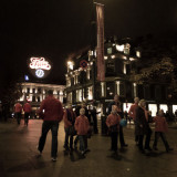 Egertorget - Freia-uret. One Hour ahead. Junior Brann supporters.