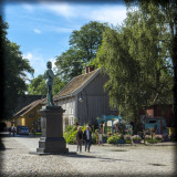 Fredrikstad, Old Town, Norway - Town Square and Fredrik