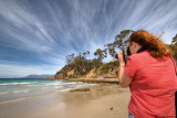 Picture of Carol taking a picture - Tasmania