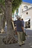 Listening to street music in Forio - Ischia