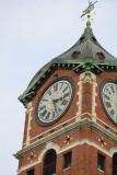 Peregrines NW corner below west clock face/east weathervane strut