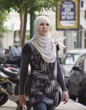 Moslem Arab Girl in my street in Tel Aviv