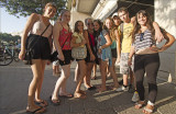 Teenagers from Sderot visiting Tel Aviv during the school holidays