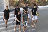 Visiting Japanese Sports Team in Tel Aviv