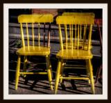 Three Yellow Chairs