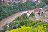 The Miljacka River flows into Sarajevo below the walls of the White Bastion