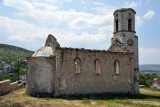 Ruins of a church welcomes visitors to Blagaj