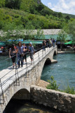 Foot bridge across the Buna River near its source