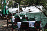 Riverside dining at the Source of the Buna, Blagaj