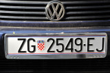 Croatian pre-EU License Plate