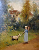 Camille Pissarro, Woman with Goat