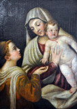 School of Titian Vecellio, Madonna and Child with St. Catherine of Alexandria