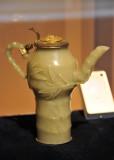 Jade teapot in the shape of bamboo, China, XVII-XVIII Century