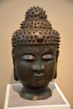 Bronze Buddha head, China