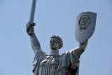 Motherland statue made of titanium