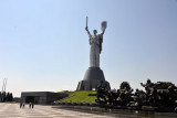 Motherland overlooking the plaza in front of the Great Patriotic War Musuem