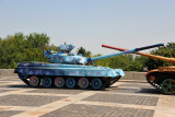 T-80UD in a festive blue paint scheme