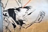 Soviet Propaganda Poster - Hitler taking a bayonet to the head