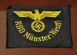 Nazi uniform patch - RBD Reichsbahndirektion Münster (Westfalen)