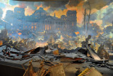 Diorama - the Fall of Berlin - Reichstag in flames