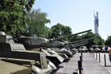 Next to the Great Patriotic War Museum, an outdoor exhibit of Soviet weaponry